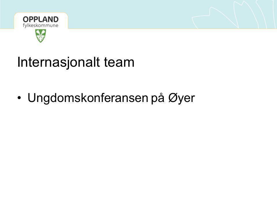 Internasjonalt team •Ungdomskonferansen på Øyer