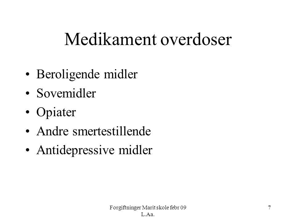 Forgiftninger Marit skole febr 09 L.Aa.38 FENOL •Forekomst: •Løsemiddel.