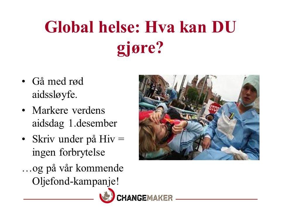 Global helse: Hva har vi gjort.