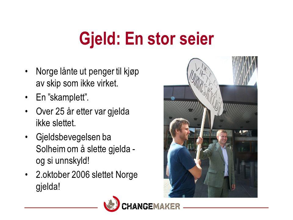 Gjeld: Hva har vi gjort.•Changemaker fikk illegitim gjeld på dagsorden.