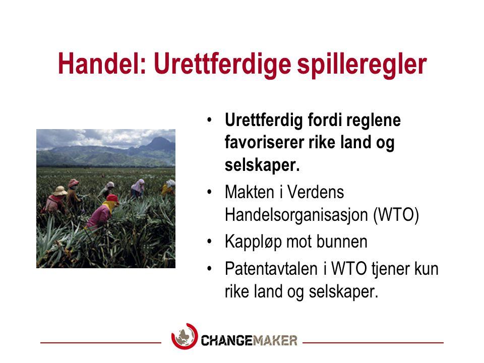 Grunnleggende løsninger Fem temaer: •Handel •Fred •Global helse •Gjeld og kapitalflukt •Klima og miljø