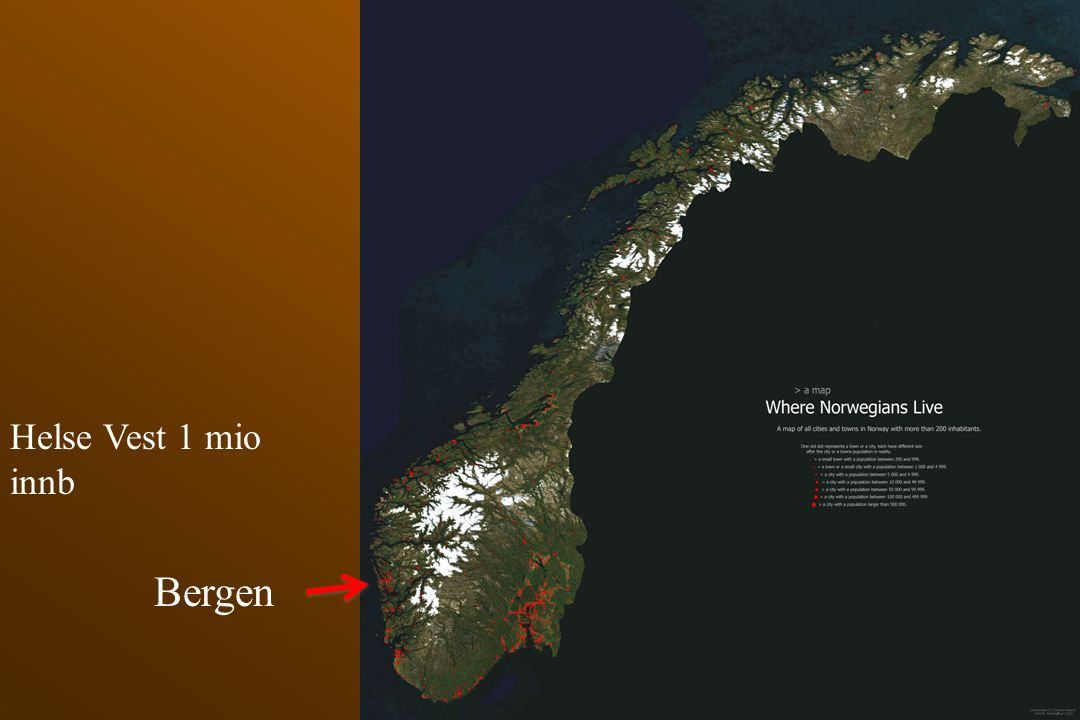 Bergen Helse Vest 1 mio innb