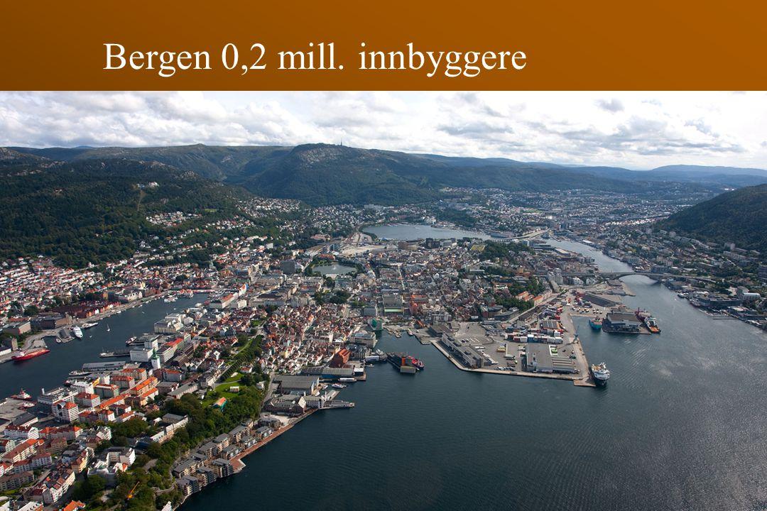 Bergen 0,2 mill. innbyggere