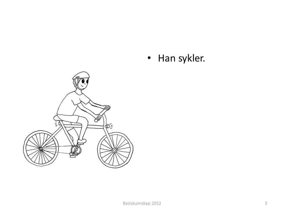 • Han sykler. Basiskunnskap 20123