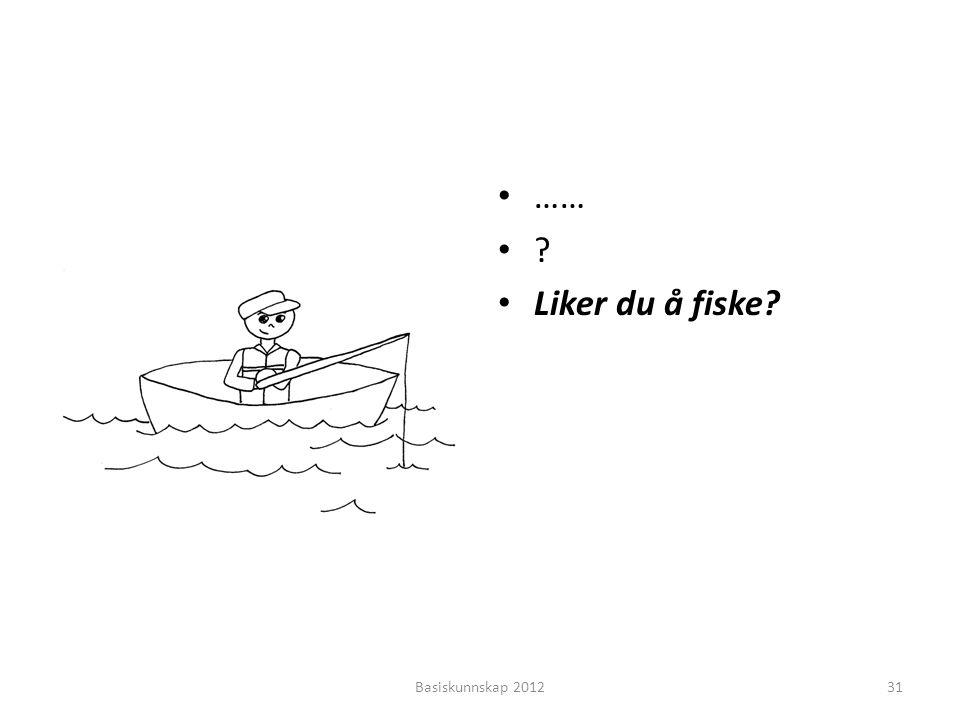 • …… •?•? • Liker du å fiske? Basiskunnskap 201231