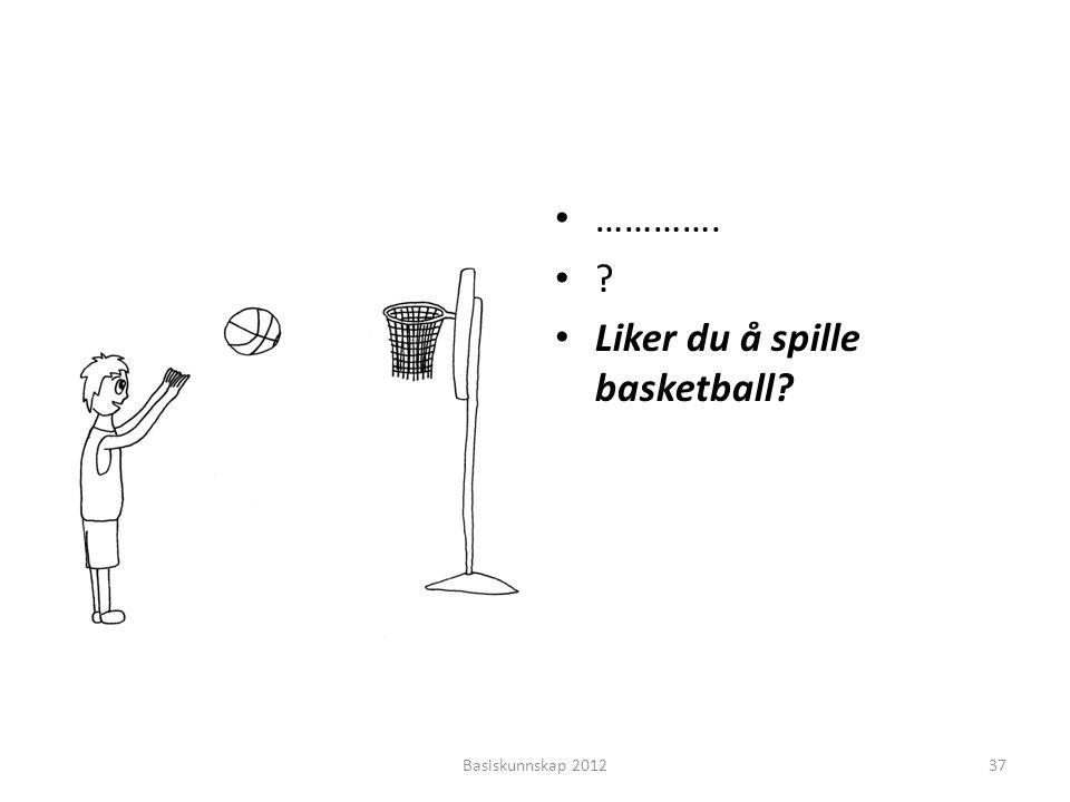 • …………. •?•? • Liker du å spille basketball? Basiskunnskap 201237