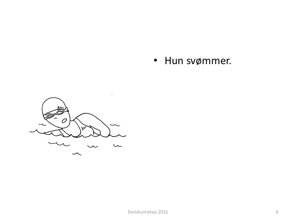 (spilte, jogget, syklet, svømte, fisket, gikk, red) • Hva gjorde hun i går.