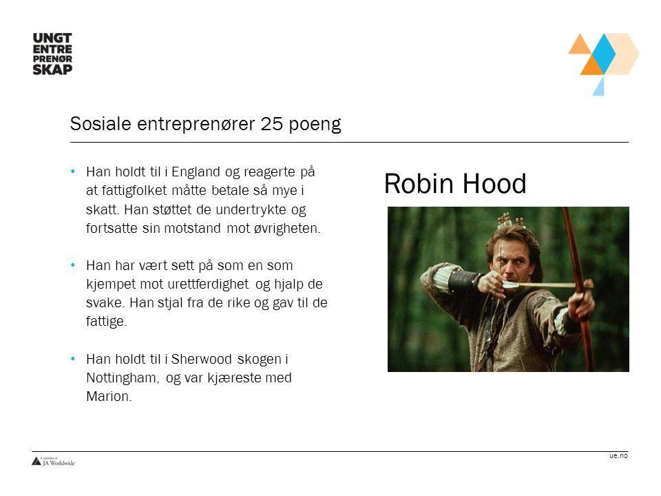ue.no Sosiale entreprenører 50 poeng