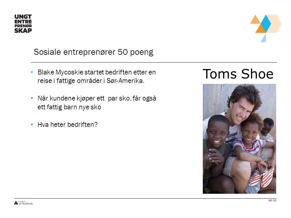 ue.no Sosiale entreprenører 75 poeng