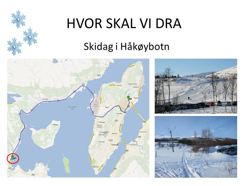 HVOR SKAL VI DRA Skidag i Håkøybotn