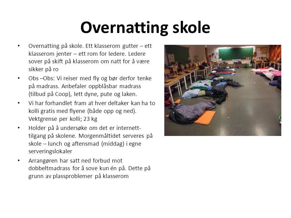 Overnatting skole • Overnatting på skole.