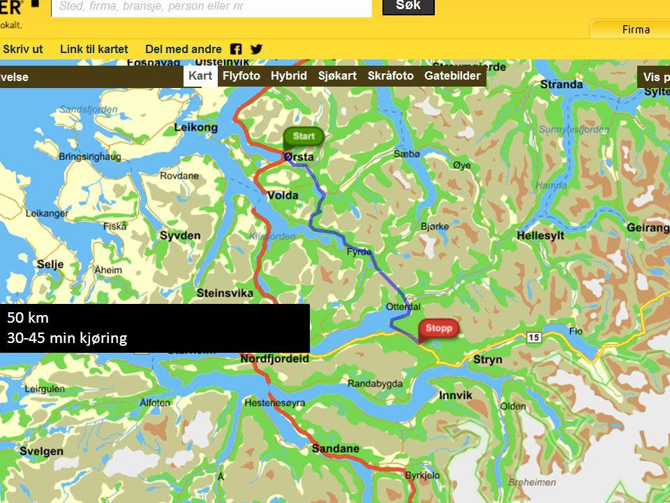 Ørsta-Stryn 05.09.2011 50 km 30-45 min kjøring