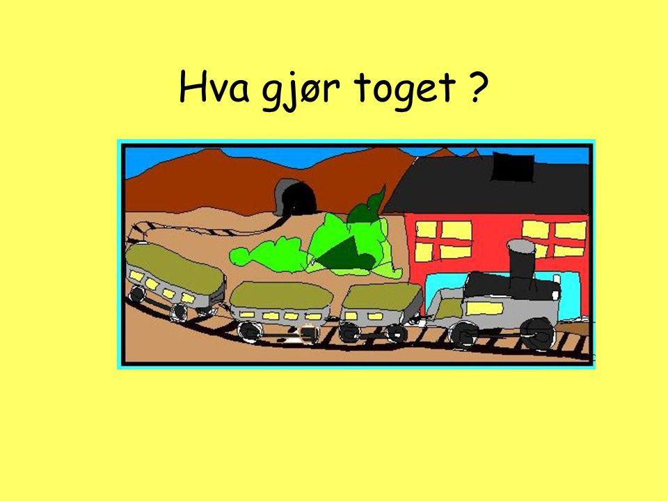 Hva gjør toget ?