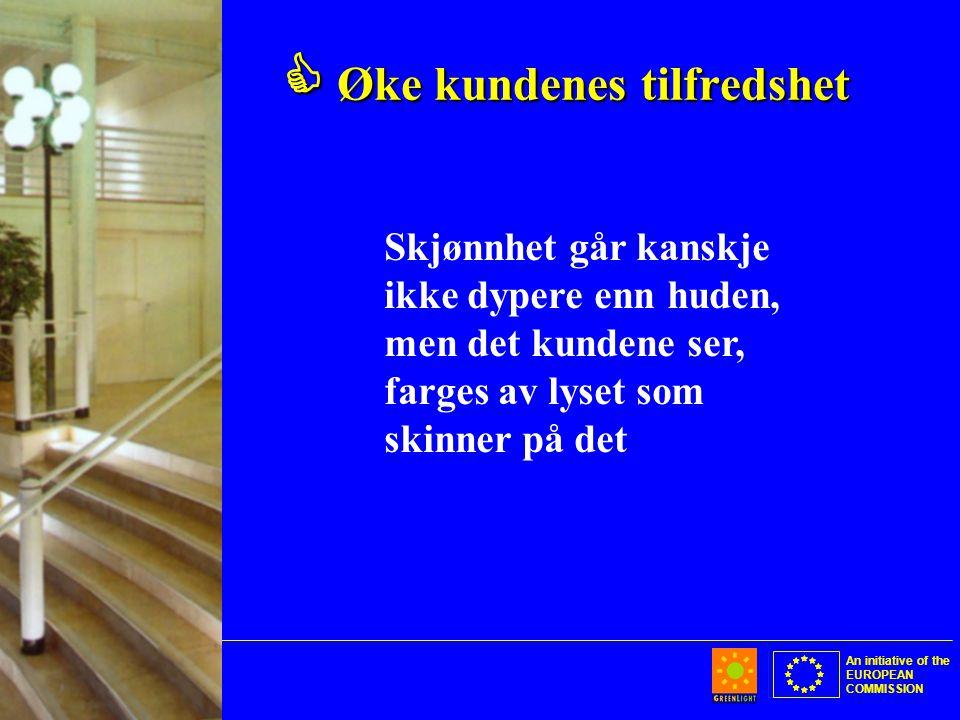An initiative of the EUROPEAN COMMISSION  Øke kundenes tilfredshet Skjønnhet går kanskje ikke dypere enn huden, men det kundene ser, farges av lyset som skinner på det