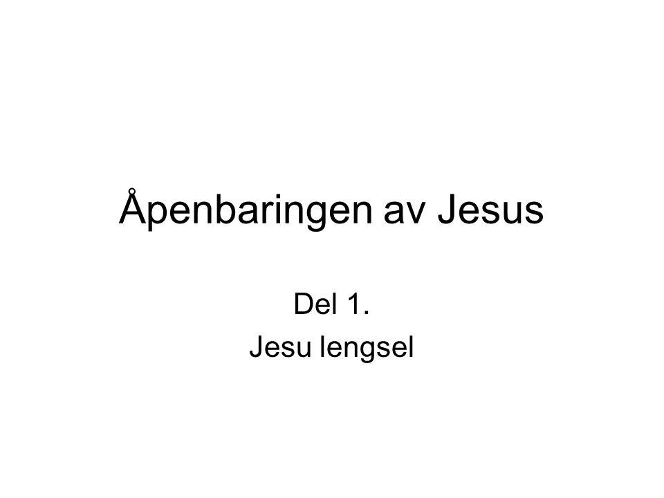En lengsel som satte alt i gang.•Alt som er skapt er skapt ved, av og for Jesus.