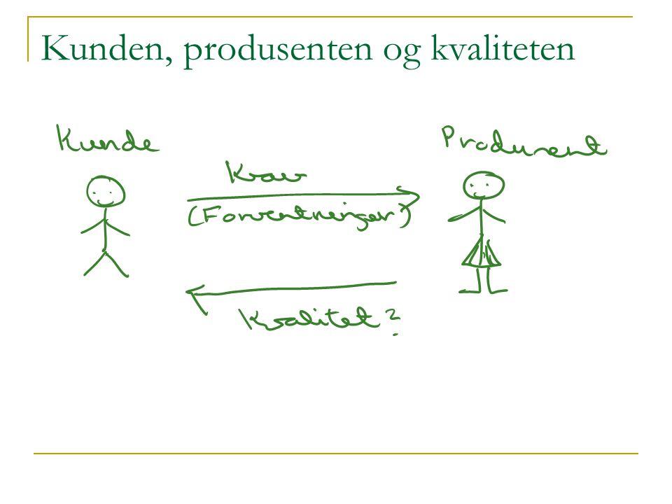 Kunden, produsenten og kvaliteten