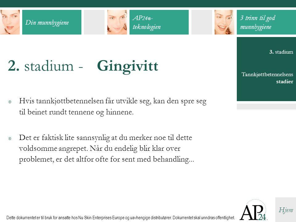 Din munnhygiene AP 24 ® - teknologien 3 trinn til god munnhygiene Hjem Dette dokumentet er til bruk for ansatte hos Nu Skin Enterprises Europe og uavhengige distributører.