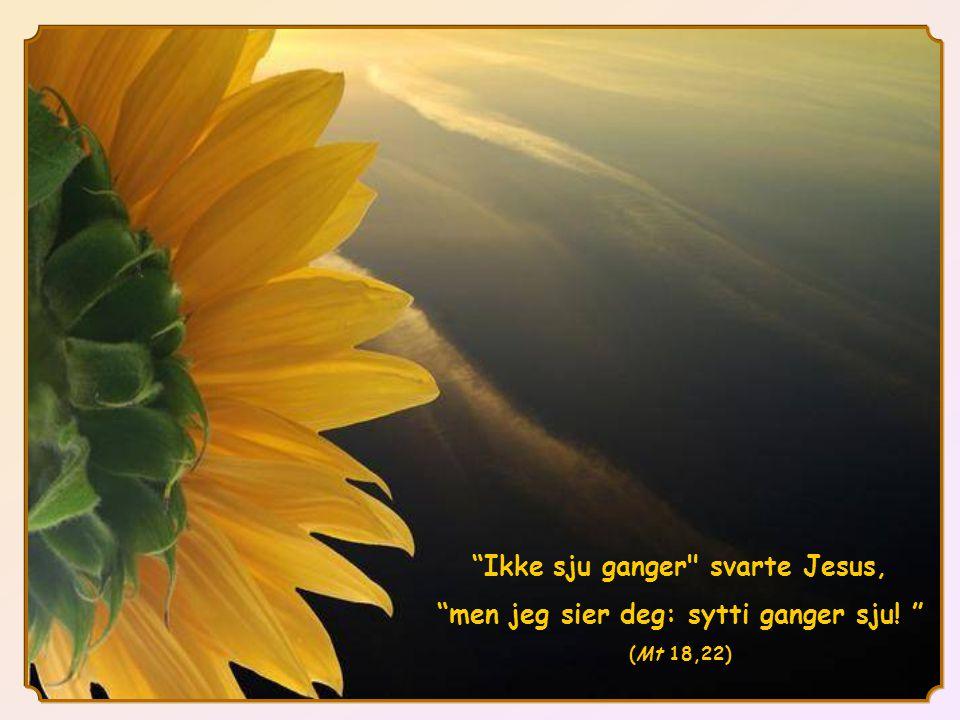 Ikke sju ganger svarte Jesus, men jeg sier deg: sytti ganger sju! (Mt 18,22)