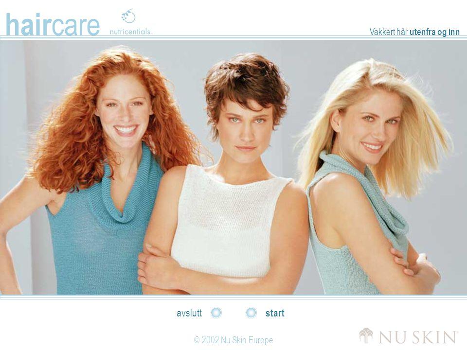hair care © 2002 Nu Skin Europe start avslutt Vakkert hår utenfra og inn