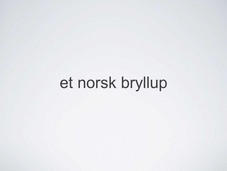 et norsk bryllup