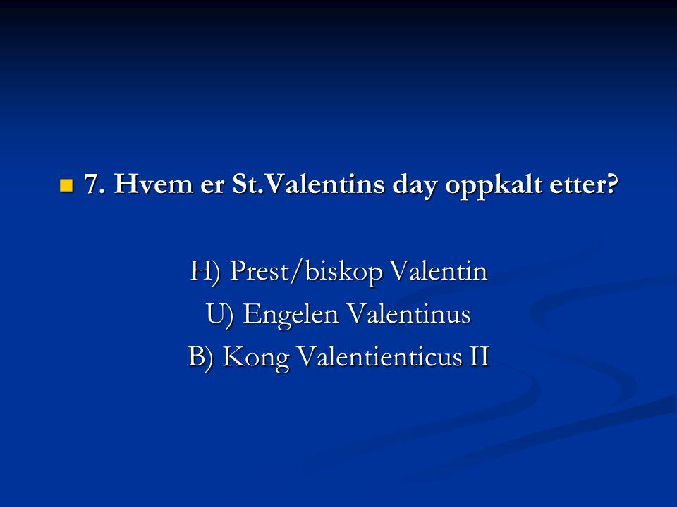  5. Hvilken bok i det gamle testamentet er mest romantisk/erotisk? B) Høysangen