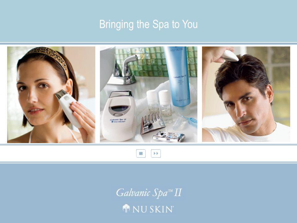 Nu Skin ® Galvanic Spa ™ Facial Gels med NY ageLOC ™ teknologi Gjenoppretter og beskytter hudens ungdommelige glød Nu Skin ® Galvanic Spa™ Pre-Treatment og Treatment Gel fjerner urenheter mens de stimulerer og revitaliserer huden.