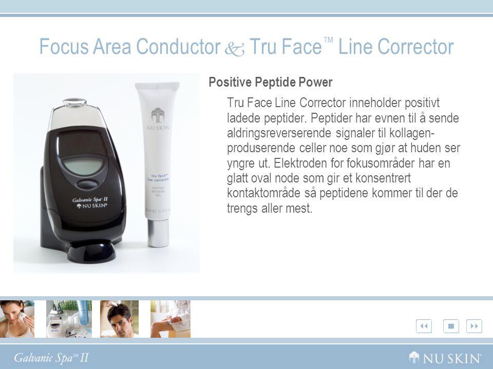 Positive Peptide Power Tru Face Line Corrector inneholder positivt ladede peptider. Peptider har evnen til å sende aldringsreverserende signaler til k