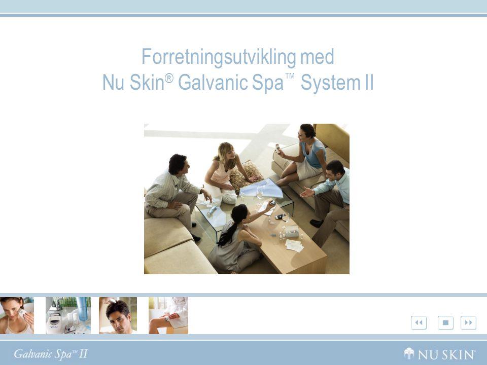 Forretningsutvikling med Nu Skin ® Galvanic Spa ™ System II