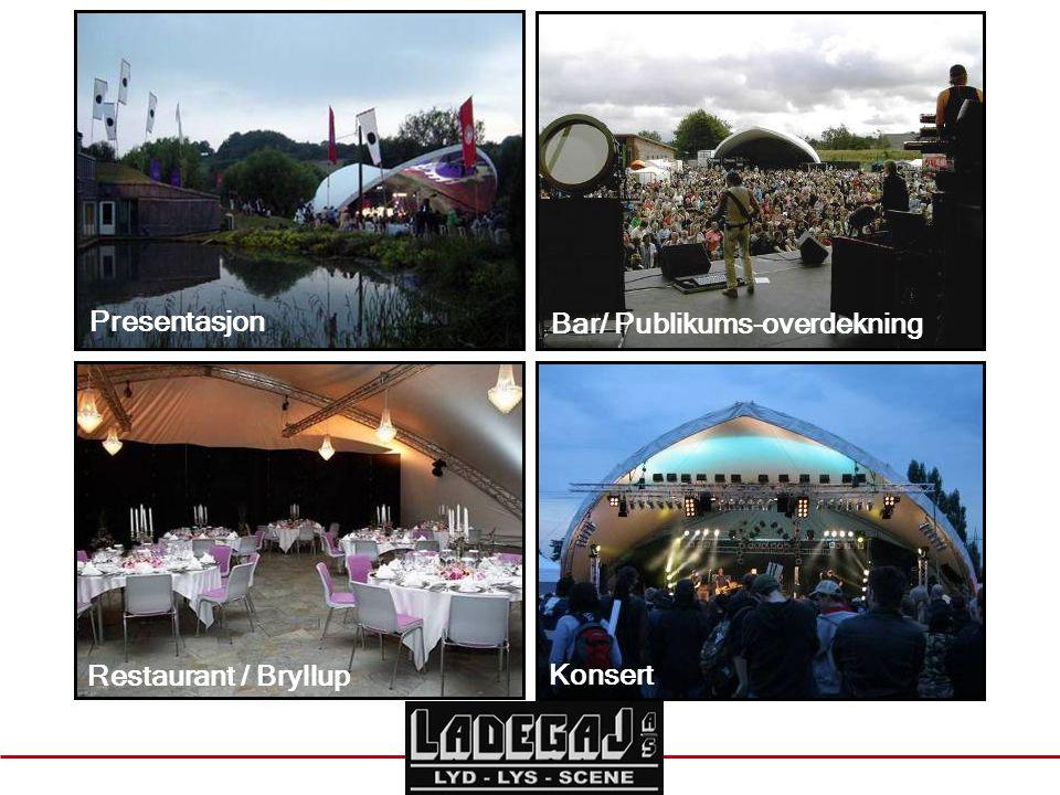 Bar/ Publikums-overdekning Restaurant / Bryllup Konsert Presentasjon