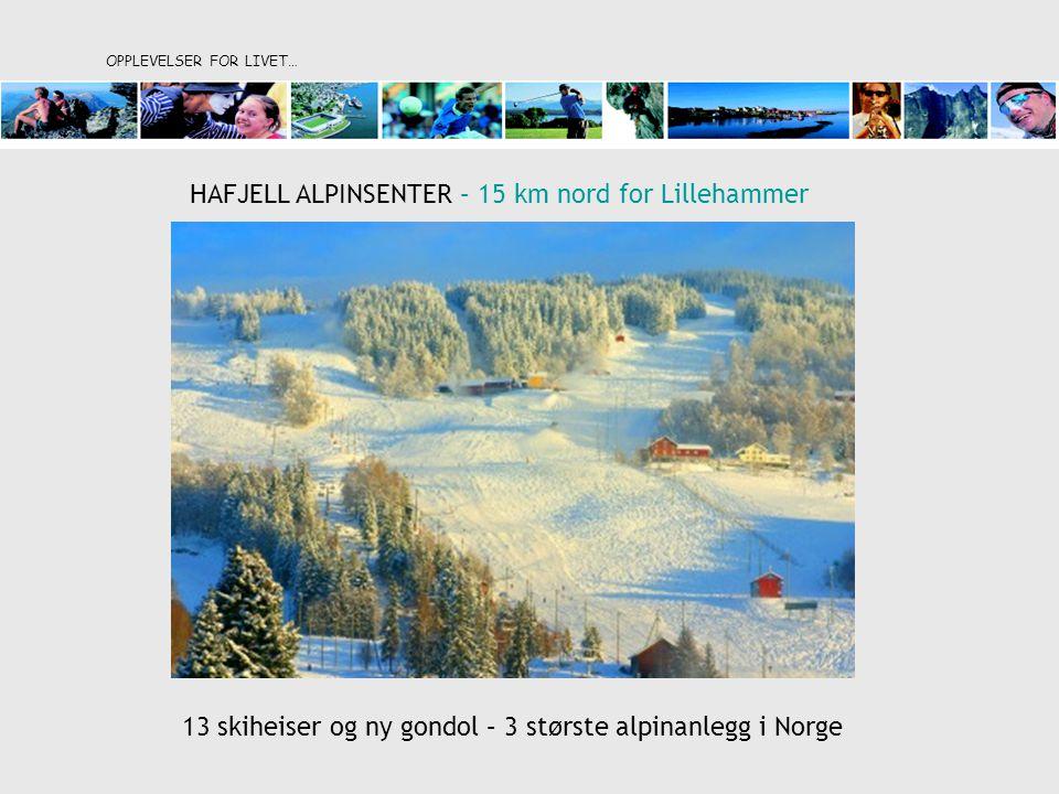 OPPLEVELSER FOR LIVET… HAFJELL ALPINSENTER – 15 km nord for Lillehammer 13 skiheiser og ny gondol – 3 største alpinanlegg i Norge