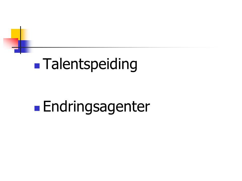  Talentspeiding  Endringsagenter