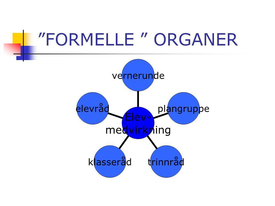 """""""FORMELLE """" ORGANER"""