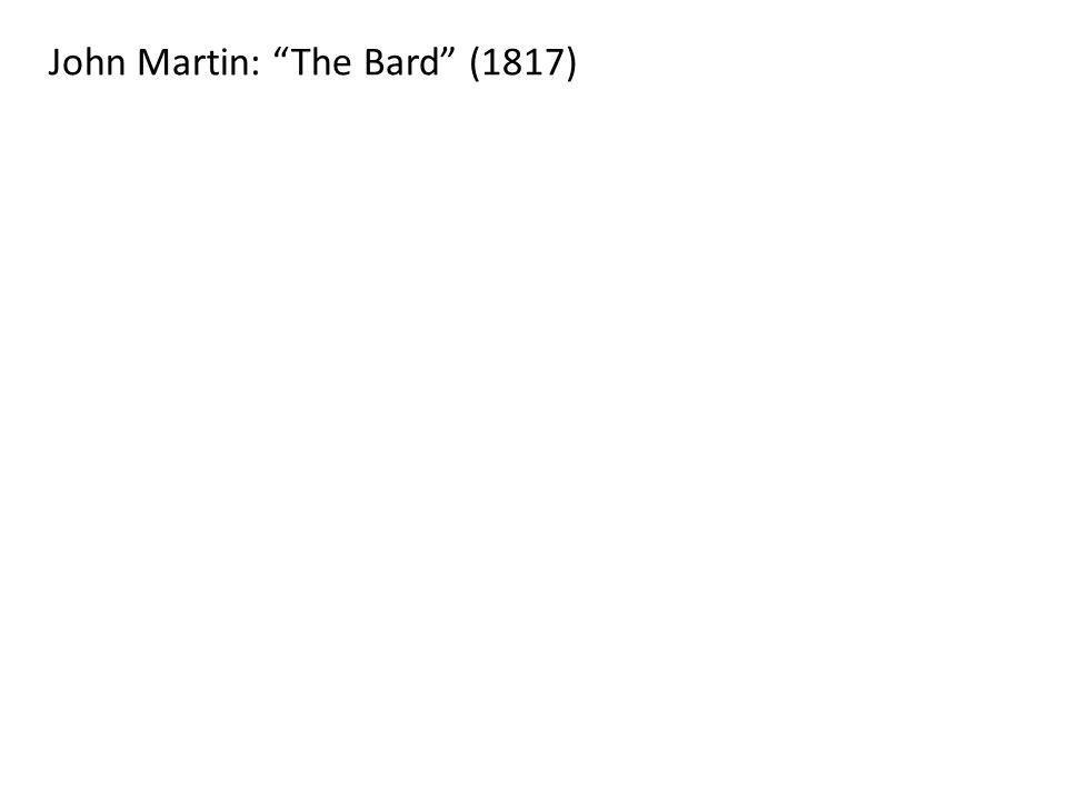 John Martin: The Bard (1817)
