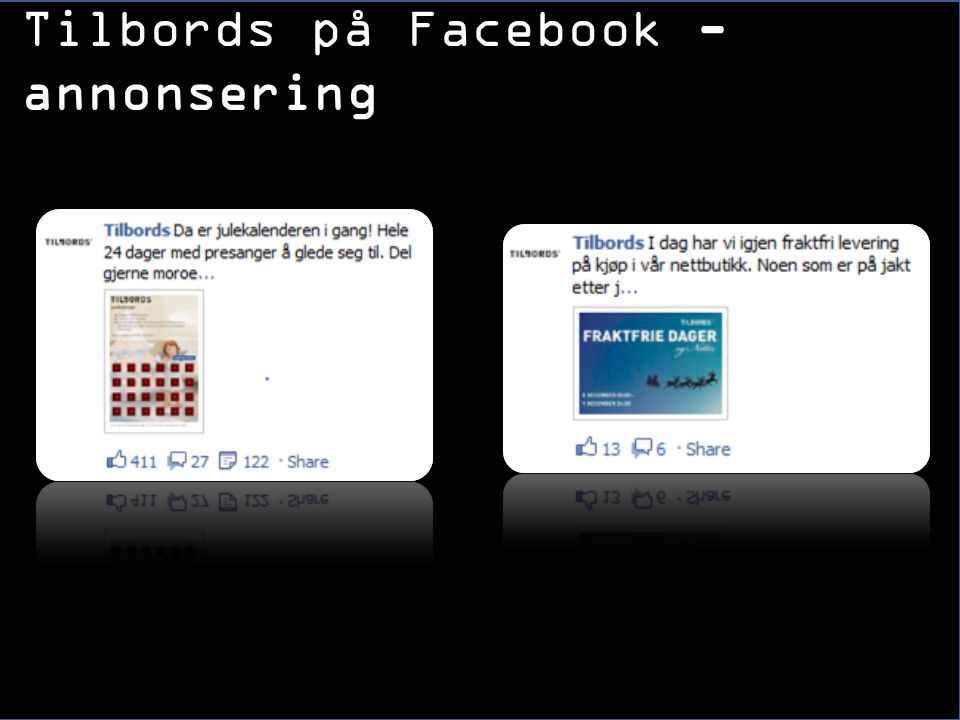 Tilbords på Facebook - annonsering