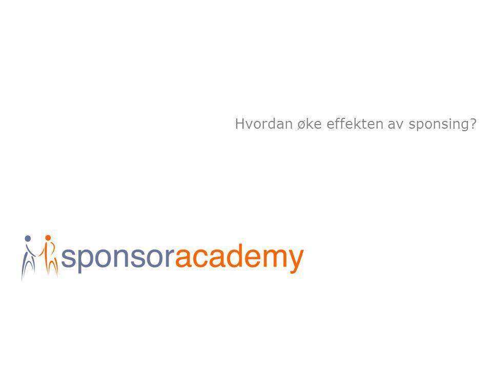 Hvordan øke effekten av sponsing?