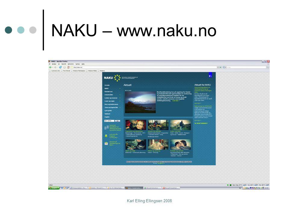 Karl Elling Ellingsen 2008 NAKU – www.naku.no