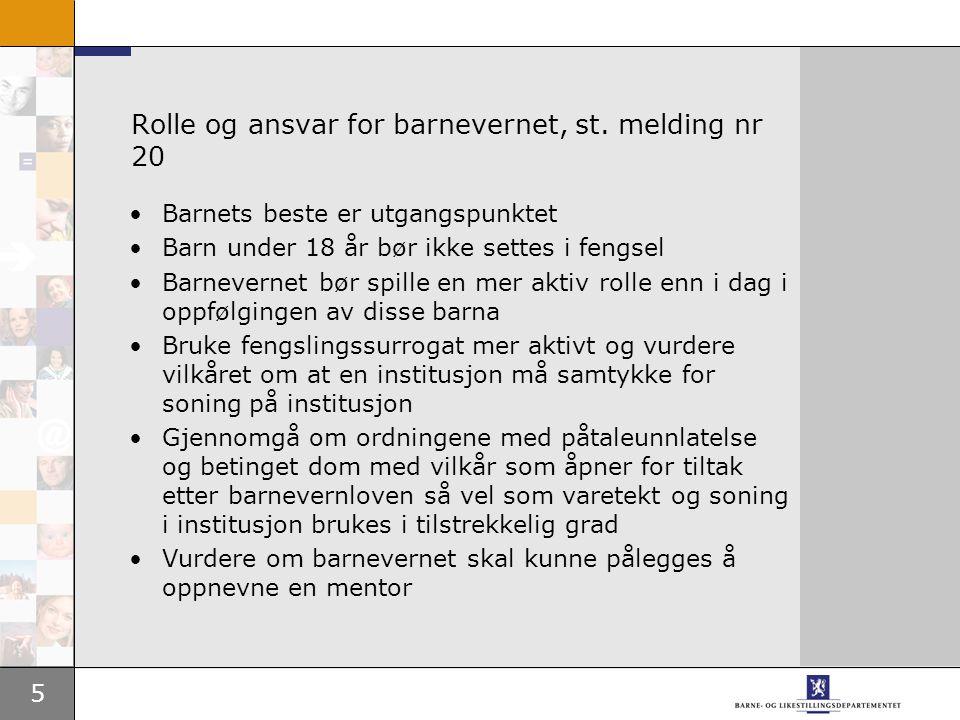 5 Rolle og ansvar for barnevernet, st.