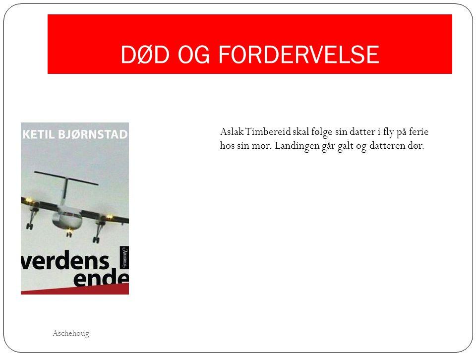 DØD OG FORDERVELSE Aslak Timbereid skal følge sin datter i fly på ferie hos sin mor. Landingen går galt og datteren dør. Aschehoug