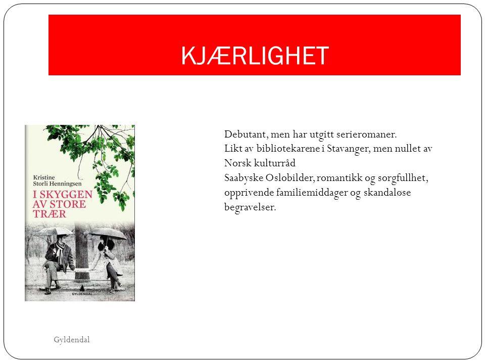 KJÆRLIGHET Debutant, men har utgitt serieromaner. Likt av bibliotekarene i Stavanger, men nullet av Norsk kulturråd Saabyske Oslobilder, romantikk og