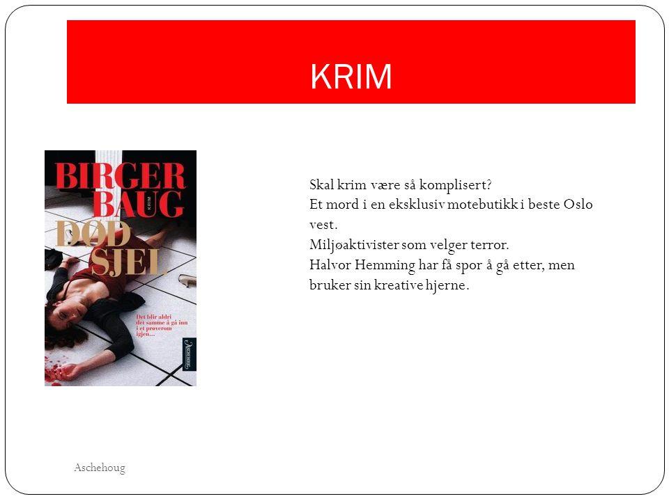 KRIM Skal krim være så komplisert? Et mord i en eksklusiv motebutikk i beste Oslo vest. Miljøaktivister som velger terror. Halvor Hemming har få spor
