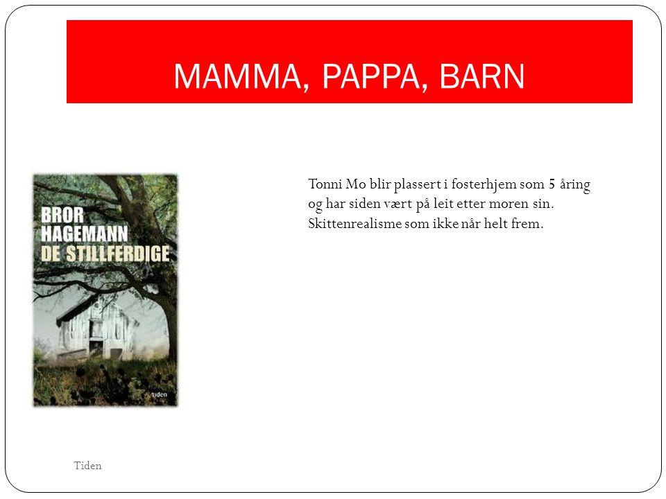 MAMMA, PAPPA, BARN Tonni Mo blir plassert i fosterhjem som 5 åring og har siden vært på leit etter moren sin. Skittenrealisme som ikke når helt frem.