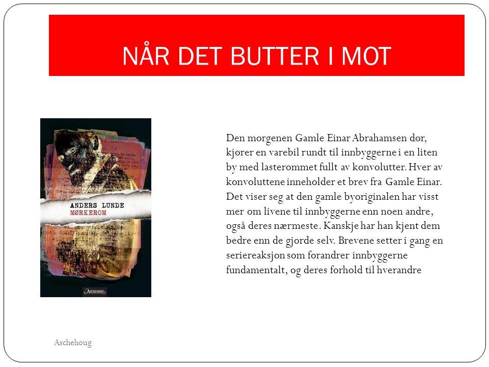 NÅR DET BUTTER I MOT Den morgenen Gamle Einar Abrahamsen dør, kjører en varebil rundt til innbyggerne i en liten by med lasterommet fullt av konvolutt