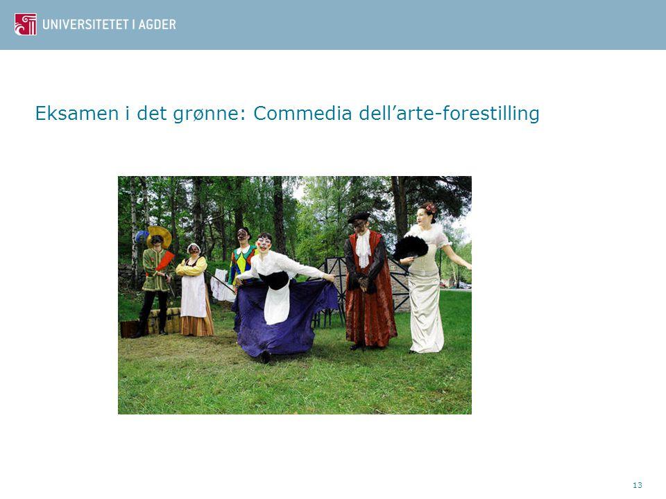 13 Eksamen i det grønne: Commedia dell'arte-forestilling