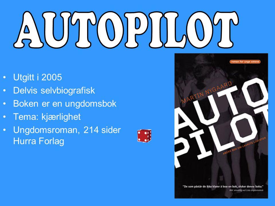 •Utgitt i 2005 •Delvis selvbiografisk •Boken er en ungdomsbok •Tema: kjærlighet •Ungdomsroman, 214 sider Hurra Forlag