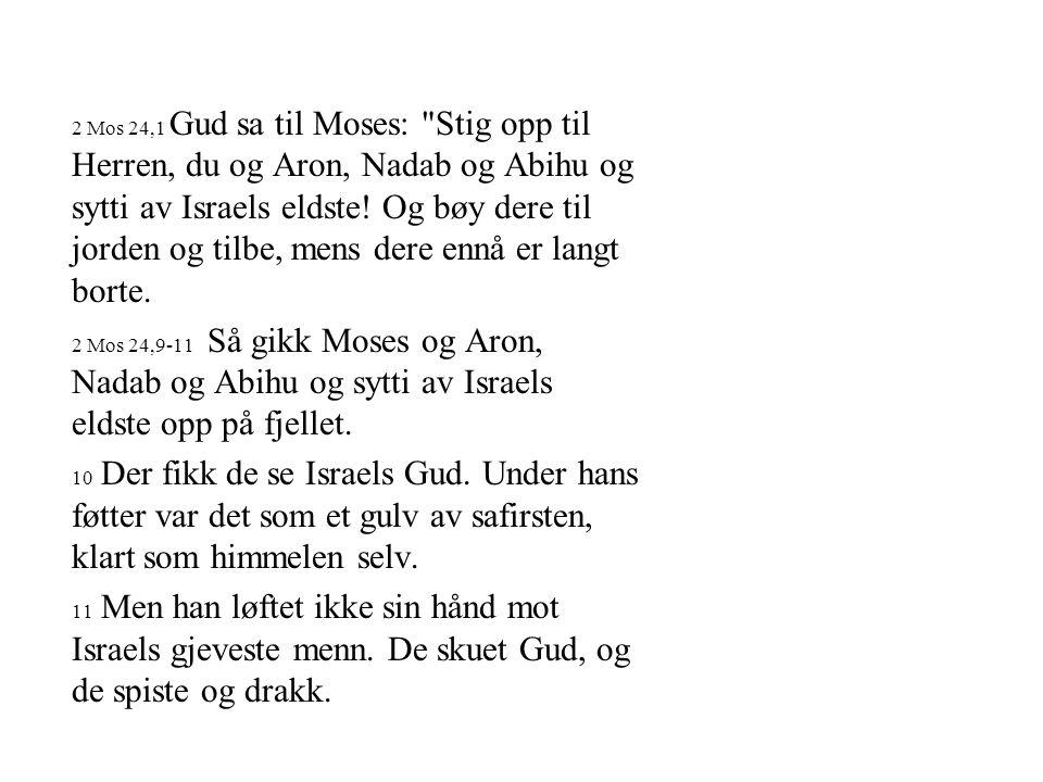 2 Mos 24,1 Gud sa til Moses: