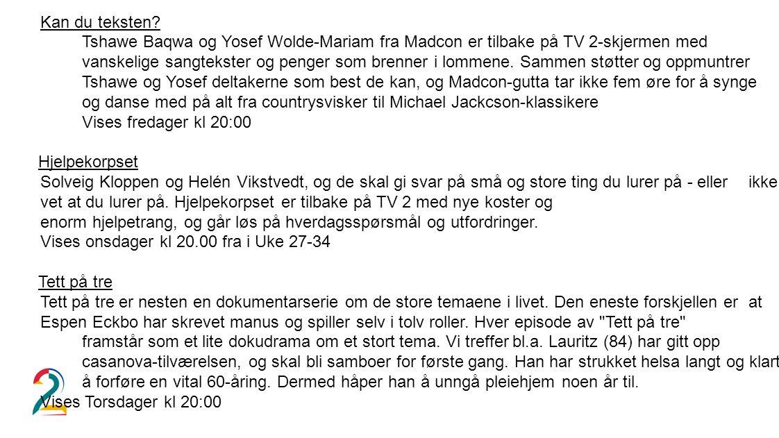 Kan du teksten? Tshawe Baqwa og Yosef Wolde-Mariam fra Madcon er tilbake på TV 2-skjermen med vanskelige sangtekster og penger som brenner i lommene.
