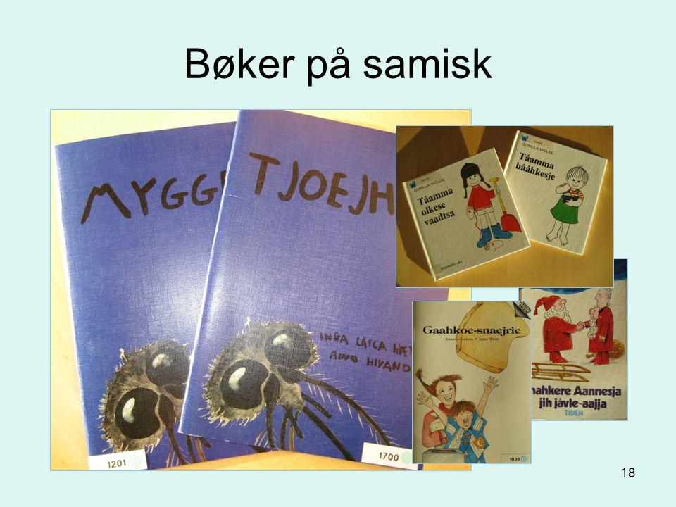 18 Bøker på samisk