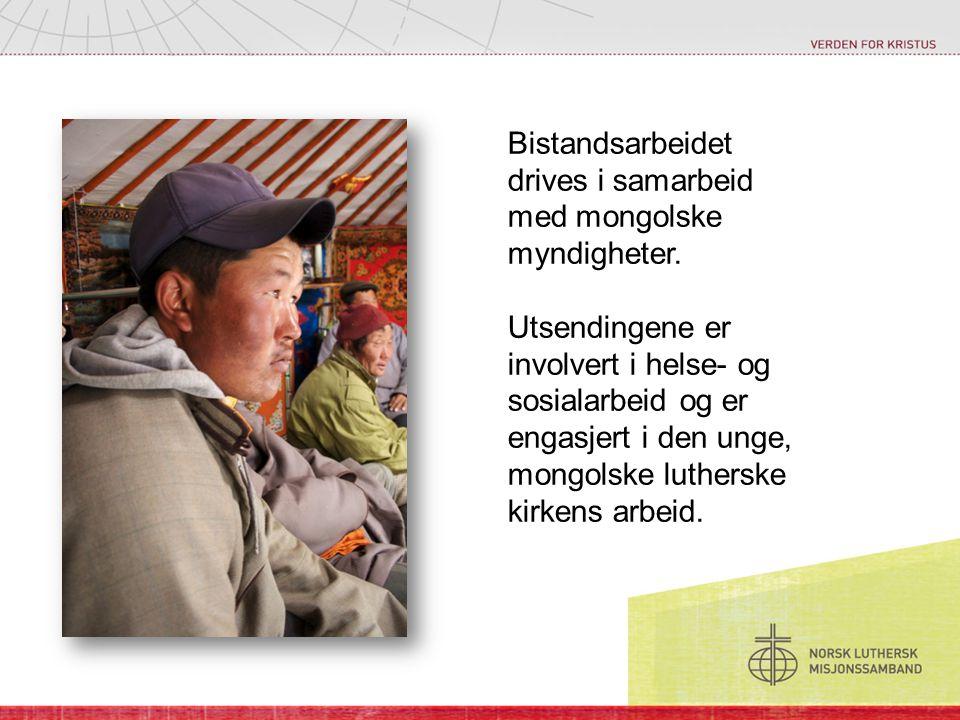 Bistandsarbeidet drives i samarbeid med mongolske myndigheter.