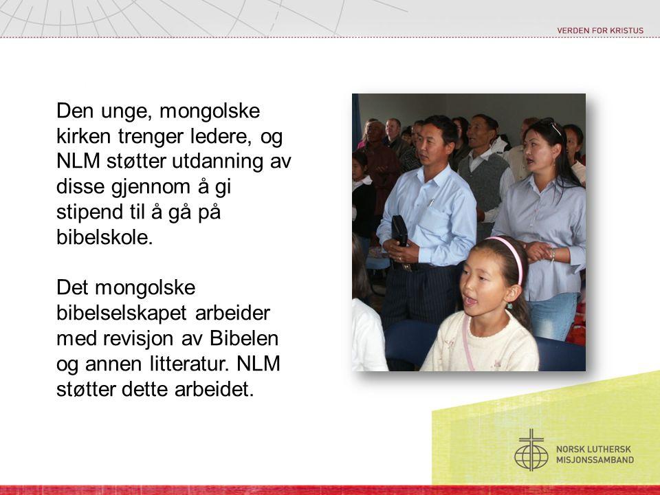Den unge, mongolske kirken trenger ledere, og NLM støtter utdanning av disse gjennom å gi stipend til å gå på bibelskole.