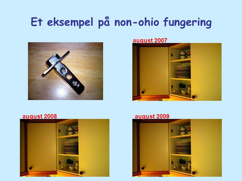 Et eksempel på non-ohio fungering august 2007 august 2008august 2009